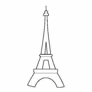 Eiffel Tower Outline Coloring Page: Eiffel Tower Outline ...
