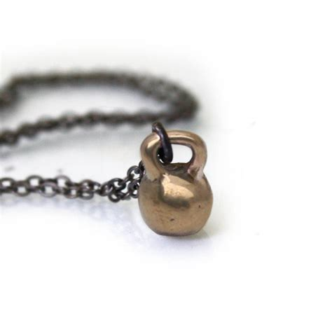 necklace kettlebell bronze mini