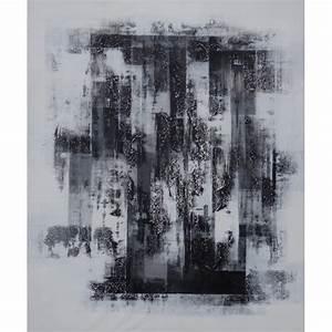 Tableau Photo Noir Et Blanc : peinture design tableau abstrait contemporain blanc noir ~ Melissatoandfro.com Idées de Décoration
