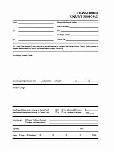 Construction Proposal Sample Free 9 Change Order Request Forms In Samples Examples