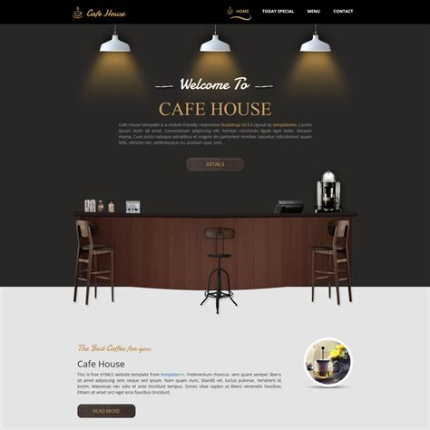 Template  Cafe House