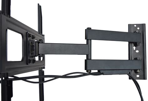 tv on wall mount vivo articulating tv wall mount vesa stand for lcd led