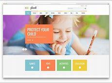kidsplanetkindergartenwebsitetemplate 1 Web design