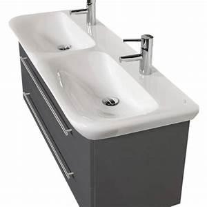 Waschtisch Mit Becken : bad waschtisch mit keramag becken myday doppelbecken 130 cm breit grau bad waschtische ~ Indierocktalk.com Haus und Dekorationen