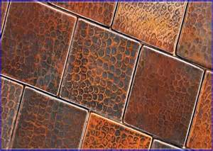 copper kitchen backsplash tiles warm and friendly copper tile backsplash