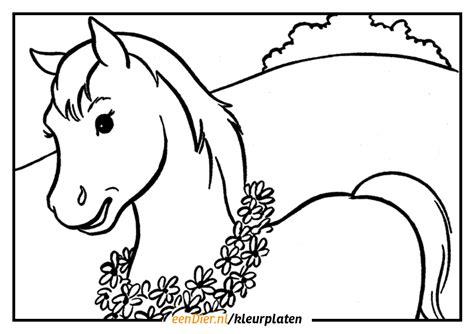 Kleurplaat Paard En Wagen by Kleurplaat Paard Gratis Paarden Kleurplaten