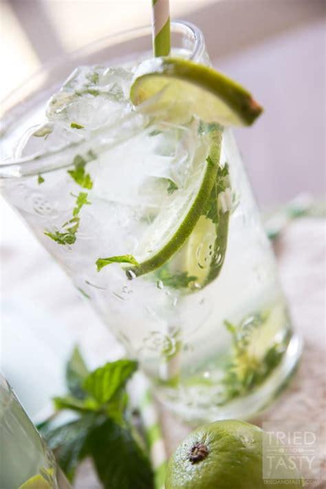 minty lime water aka virgin  sugar added mojito