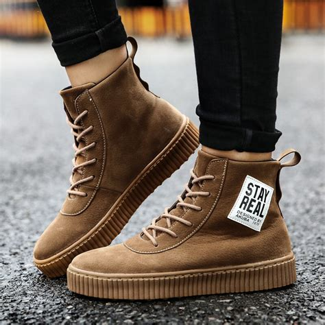 New Non Slip Autumn Winter High Top Martin Boots Men