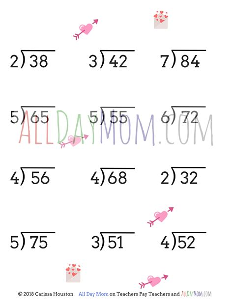 printable valentines day math worksheets