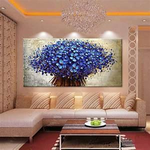 Pintura em tela buquê azul JK Galeria de Artes Elo7