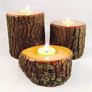 24 best natural wood candle holders images on pinterest for Kitchen cabinets lowes with birch log candle holders