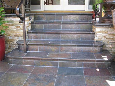 perhaps we could tile our concrete steps with slate