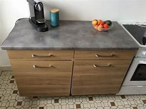 Meuble Avec Plan De Travail : meuble rangement cuisine travail clasf ~ Dailycaller-alerts.com Idées de Décoration