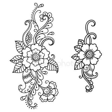 modele de henné mod 232 le de tatouage au henn 233 de fleur mehndi coloing pages