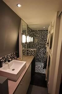 Salle De Bain Etroite : salle de bain lnl1 id es salle de bain pinterest salle de bains salle et sdb ~ Melissatoandfro.com Idées de Décoration