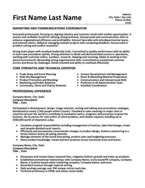 Marketing Coordinator Resume Summary by Marketing And Communications Coordinator Resume Resume