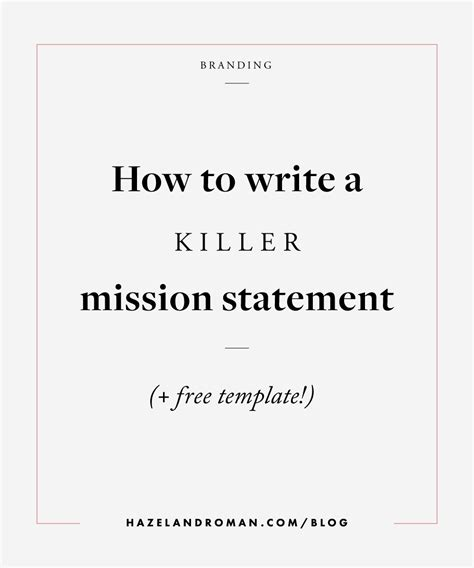 Career Change Resume Objective Statement Exles by The 25 Best Mission Statement Template Ideas On