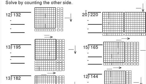 crewton ramone s of math february 2011 - Division Worksheets Using Base Ten Blocks