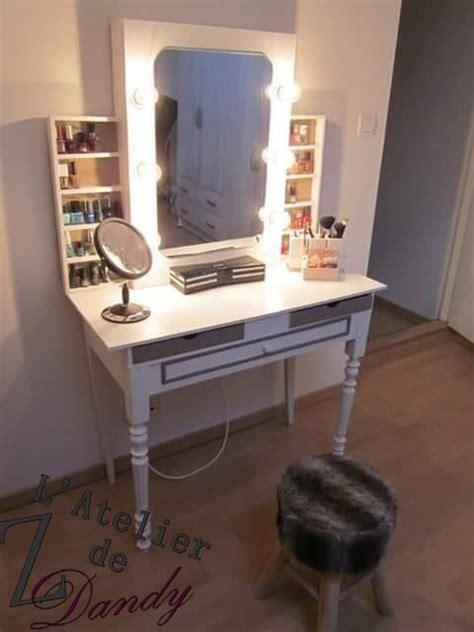 chambre avec coiffeuse diy pour une coiffeuse de avec miroir lumineux