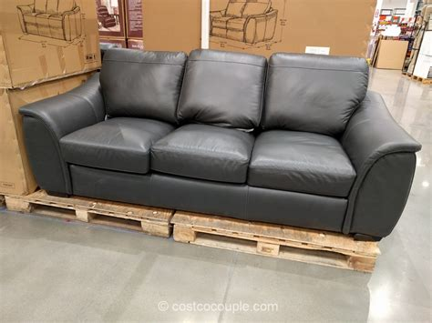 costco leather sofa in store bayside furnishings onin room divider