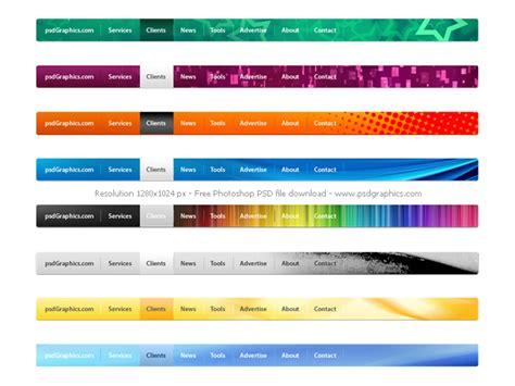 navigation bar templates psd website navigation menus set psdgraphics