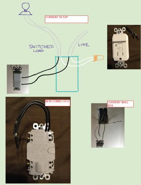 Need Help With Wiring Gfci Combo Switch Outlet Into