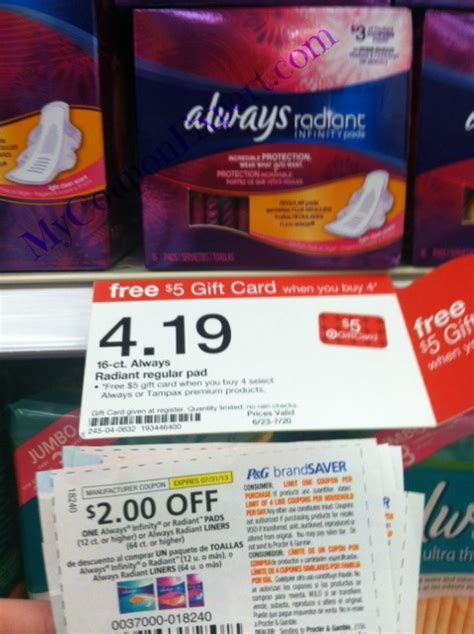 43209 Out Pads Coupons by Target Always Radiant Deal Wow