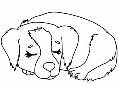 Puppy Coloring Pages Sleeping
