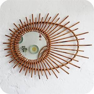 Petit Miroir Rotin : miroir rotin vintage nantes atelier du petit parc ~ Melissatoandfro.com Idées de Décoration