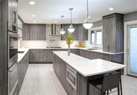 Grey Stained Wood Kitchen Cabinets  Kitchen Cabinet