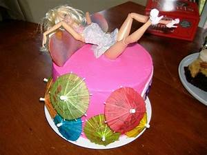 Hot Pink Adult Drunk Barbie Cake. Made for my ultra hot ...