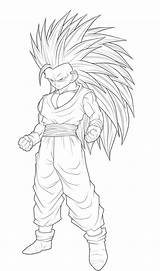 Coloring Super Pages Goku Saiyan4 Popular Saiyan sketch template