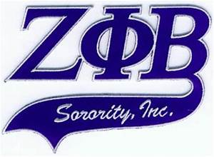 zeta phi beta sorority letter tail patch With zeta phi beta greek letters