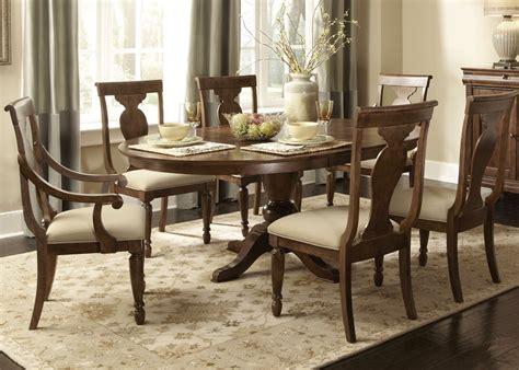 rustic oval pedestal table formal dining furniture set