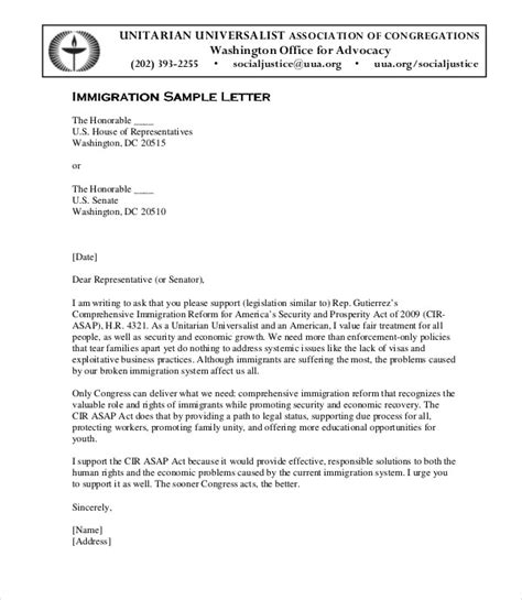 letter of recommendation for immigration 10 immigration reference letter templates pdf doc 3863