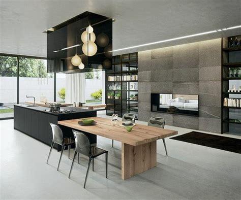 table ilot centrale cuisine la cuisine équipée avec îlot central 66 idées en photos