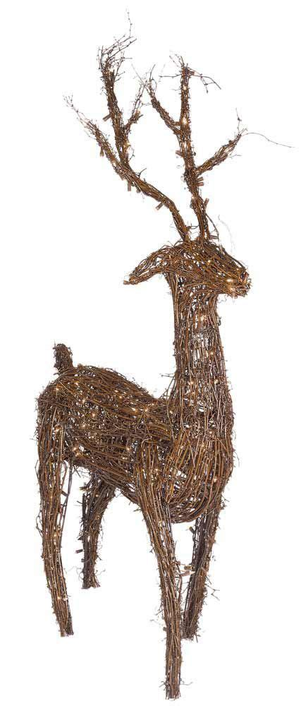 48 quot grapevine standing reindeer led outdoor yard