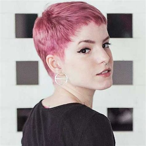 nice short pink hair ideas  young women