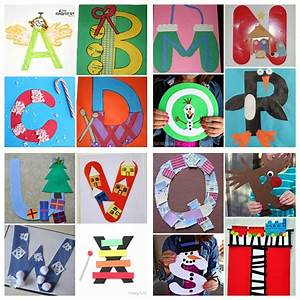 winter christmas alphabet crafts for kids crafts letter With letters for craft projects