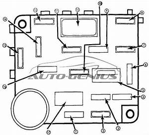 Ford Thunderbird  1980 - 1982  - Fuse Box Diagram