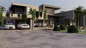 Modern Luxury House Model And Render Modern House 3d