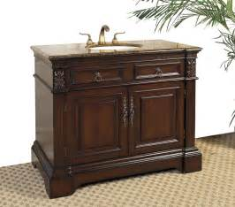 42 inch marble top bathroom vanity cherry in bathroom
