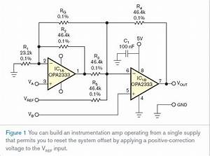 Single Supply Instrumentation Amplifier