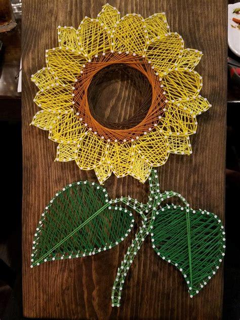 easy sunflower string art template crafting news