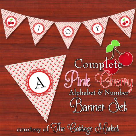 printable complete alphabet  number cottage banner