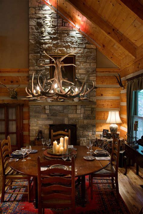 fairview log cabin rustic dining room nashville
