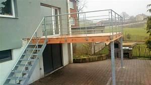 Terrasse sur pilotis en acier galvanise nos conseils for Terrasse en acier galvanise