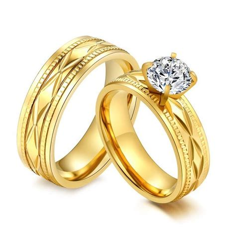 wedding ring couple goldwedding rings  couples
