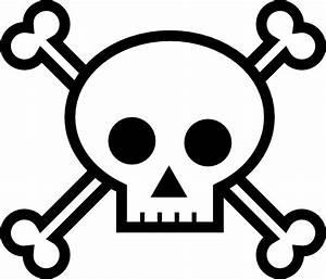 Skull and Crossbones 4 - Skull pumpkin carving stencils ...