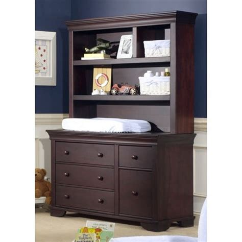 baby changing dresser with hutch cocoon nursery furniture 7000 series dressing station and
